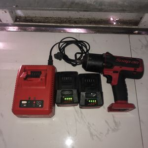 Snap On Impact Gun With Two Batteries And Charger for Sale in Homestead, FL