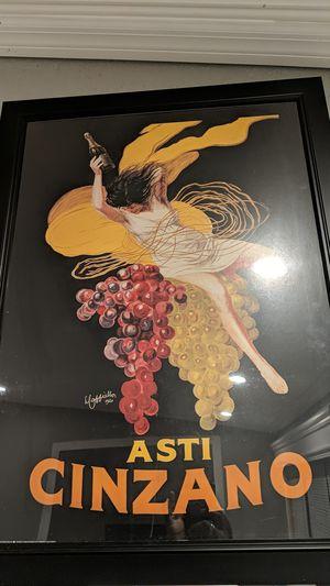 Asti Cinzano Poster. for Sale in Palm Beach Shores, FL