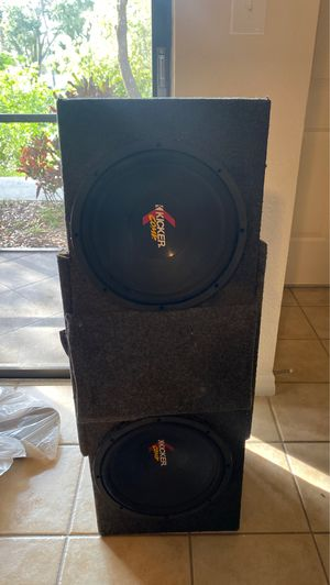 Two 12s subwoofers kickers for Sale in Tampa, FL