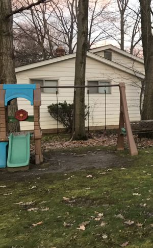 Step 2 swing set and step 2 matching sand and water table for Sale in Cleveland, OH