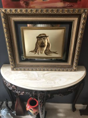 Illusion art - Hollow face Jesus picture for Sale in Fort Myers, FL