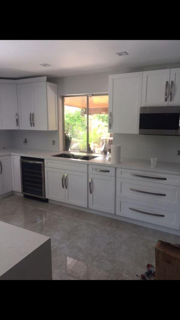 Kitchen cabinets and granite