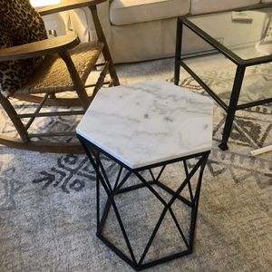 Marble Hexagonal Side Table Homegoods for Sale in Durham, NC