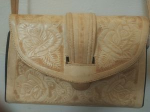 Hand Crafted Cotour Western Style Tooled Leather Purse / Handbag for Sale in Wichita, KS