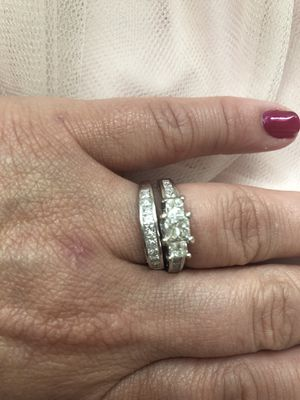 14KWG Engagement and Wedding Band for Sale in Manassas, VA