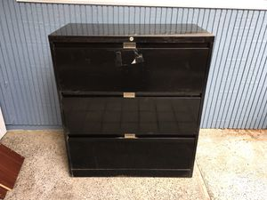 """Heavy metal file cabinet for sale. Dimensions: 36"""" w 18"""" deep 41"""" h. $50 or best offer for Sale in Seattle, WA"""