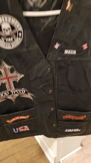Leather motorcycle vest for Sale in San Bernardino, CA