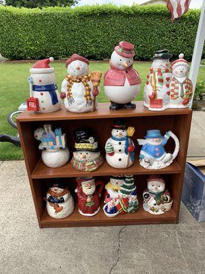 12 Snowman Ceramic Cookie Jars for Sale in Gresham, OR