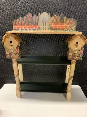 Small Bookcase Shelf Entry way Table - Birdhouse for Sale in Fort Lauderdale, FL