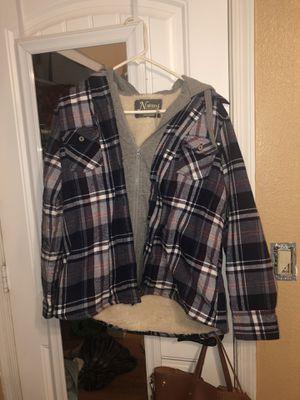 Flannel Hoodie jacket for Sale in Glendale, AZ