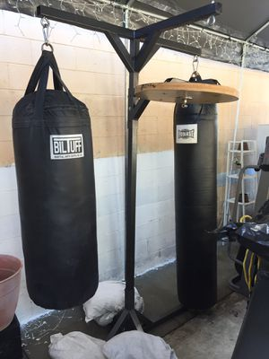 Boxing. 2 punching bags with stand (heavy bags) for Sale in Long Beach, CA