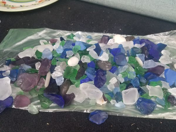 sack of seaglass- GREAT JEWELRY pieces