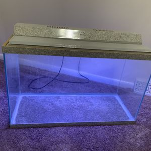 Fish Tank With Working Lamp for Sale in Accokeek, MD