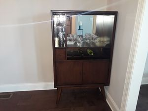 Mid century modern, mirrored wine cabinet for Sale in Franklin, TN
