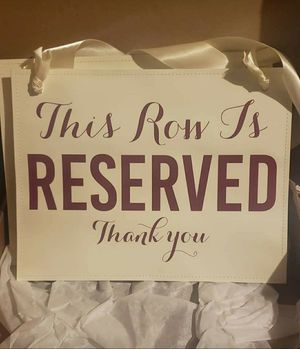 Reserved Seating Signs for Sale in Sturbridge, MA