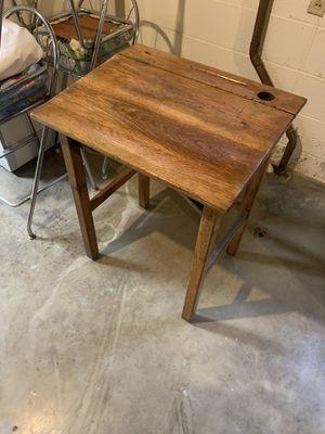 Antique Oak School Desk for Sale in Wheeling, WV