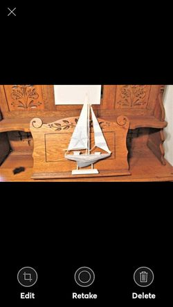 "Wooden Model Sailboat -17"" x 9-1/2"" Nice for Sale in Lynchburg,  VA"