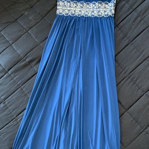 R&M Richards Womens Aqua Size 10 P Beaded Dress Blue Fine Evening Party for Sale in Sterling, VA