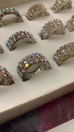 Cubic Zirconia ring, and earrings set of 3 by your choice for Sale in Los Angeles, CA