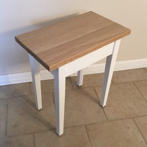 """19"""" Solid Wood Modern White Sofa Entry Hallway Side Table $50 for Sale in Arlington Heights, IL"""