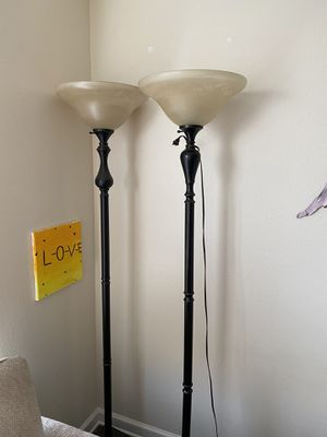 2 lamps. Roughly 5 1/2 feet tall for Sale in Murfreesboro, TN