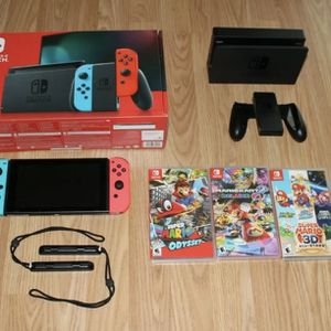 Nintendo Switch - With 3 Games for Sale in Miami, FL