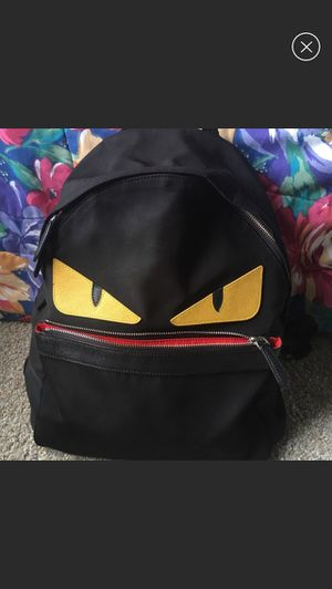 FENDI black monster nylon backpack bug bag for Sale in Roselle, IL