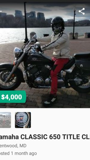 Yamaha 650 lookin for trade Exchange with the same miles and years or up for Sale in Washington, DC