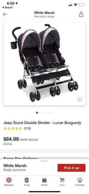 Jeep double stroller for Sale in Rosedale, MD