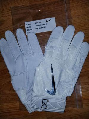 Brand New Nike Huarache Elite WHITE/WHITE Baseball Batting gloves Adult Large for Sale in West Covina, CA
