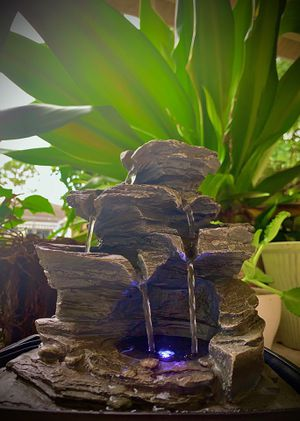 LED beautiful rock nature water fountain!!! for Sale in Port St. Lucie, FL