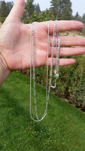 New Italian Sterling Silver Necklaces for Men & Women for Sale in Wenatchee, WA