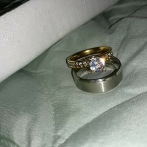 Set 2 Piece Engagement Wedding Ring, Size 11. for Sale in Dallas, TX