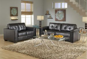 New! Black Contemporary Leather Sofa and Loveseat for Sale in Columbia, MD