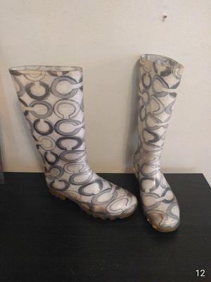 Coach Rain Boots Size 9 for Sale in Chicago, IL