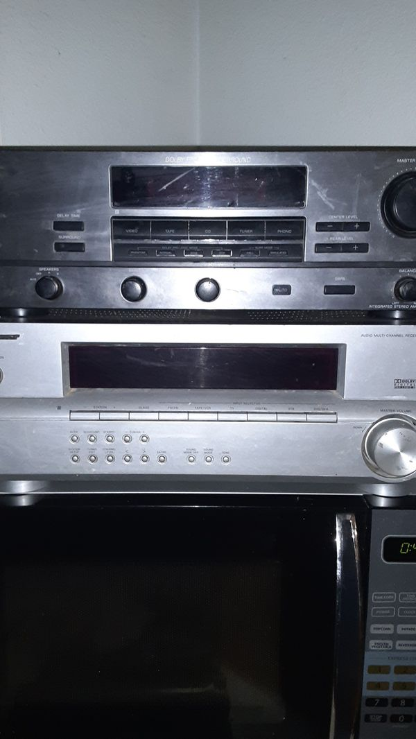Sony and Pioneer surround sound audio systems