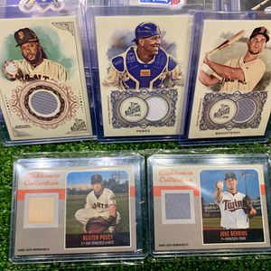 Baseball Cards. Make An Offer. Buster Posey Giants Bat Piece Topps - Allen & Ginter Insert Parallels Relics Patches Autos for Sale in Emmaus, PA