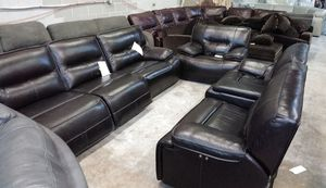 Beckett 7pc Italian leather sofa set for Sale in Decatur, GA