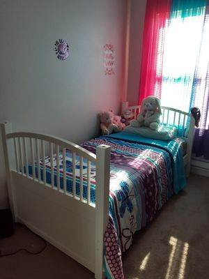 Twin Bed freme with mattress for Sale in Tacoma, WA
