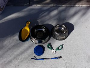 Dog-Bowls, Scoopers, Food Lid, Collar & Nail Cutter for Sale in BVL, FL