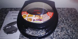 The Sunbeam 3864 Nonstick Waffle and Sandwich Maker w/ 3 Removable Plates for Sale in Georgetown, TX