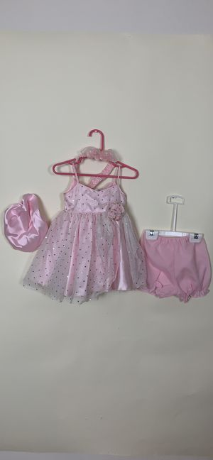 Pink infant sparkle princess pageant dress 12M for Sale in Austin, TX