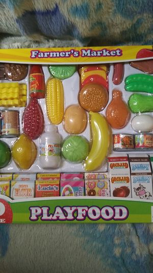 Farmers market 50 piece play food for Sale in Pevely, MO