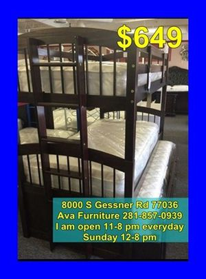 bunk bed frame with mattress for Sale in Houston, TX