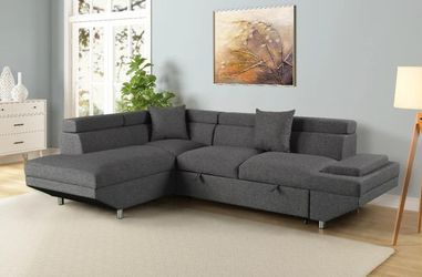 Miami Gray LAF Sleeper Sectional for Sale in Austin,  TX