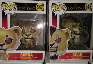 Funko Pop: Simba 547; Scar 548 for Sale in El Paso, TX
