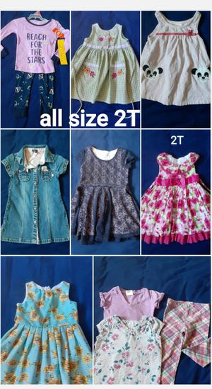 Size 2T.. the pajama it's new with tag rest perfect condition for Sale in San Jose, CA