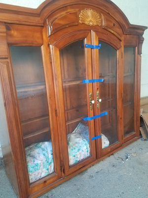 China hutch with glass shelves for Sale in Troutville, VA