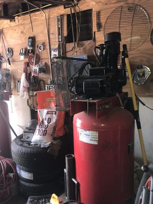 7.5hp compressor new Dayton electric motor 220 volt single phase power for Sale in Hemet, CA