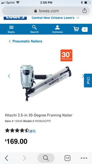 HITACHI 3.5-in 30-Degree Framing Nailer FACTORY RECONDITIONED for Sale in New Orleans, LA
